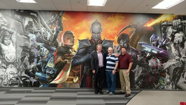 At Daybreak Game Company, which makes EverQuest, a competitor to my last company, Turbine. They didn't have horns.